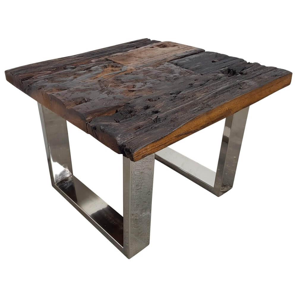 Couchtisch FREEZY #20 Wohnzimmertisch Beistelltisch Rolltisch Altholz 90x40x60cm