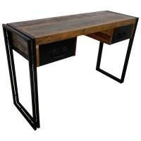 Schreibtisch Vintage 120 cm breit Bürotisch Tisch Holz Arbeitstisch Industrial