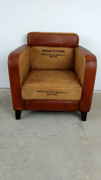 Clubsessel Lounge-Sessel Relaxsessel Designer Armcair Vintage Loft Retro Möbel